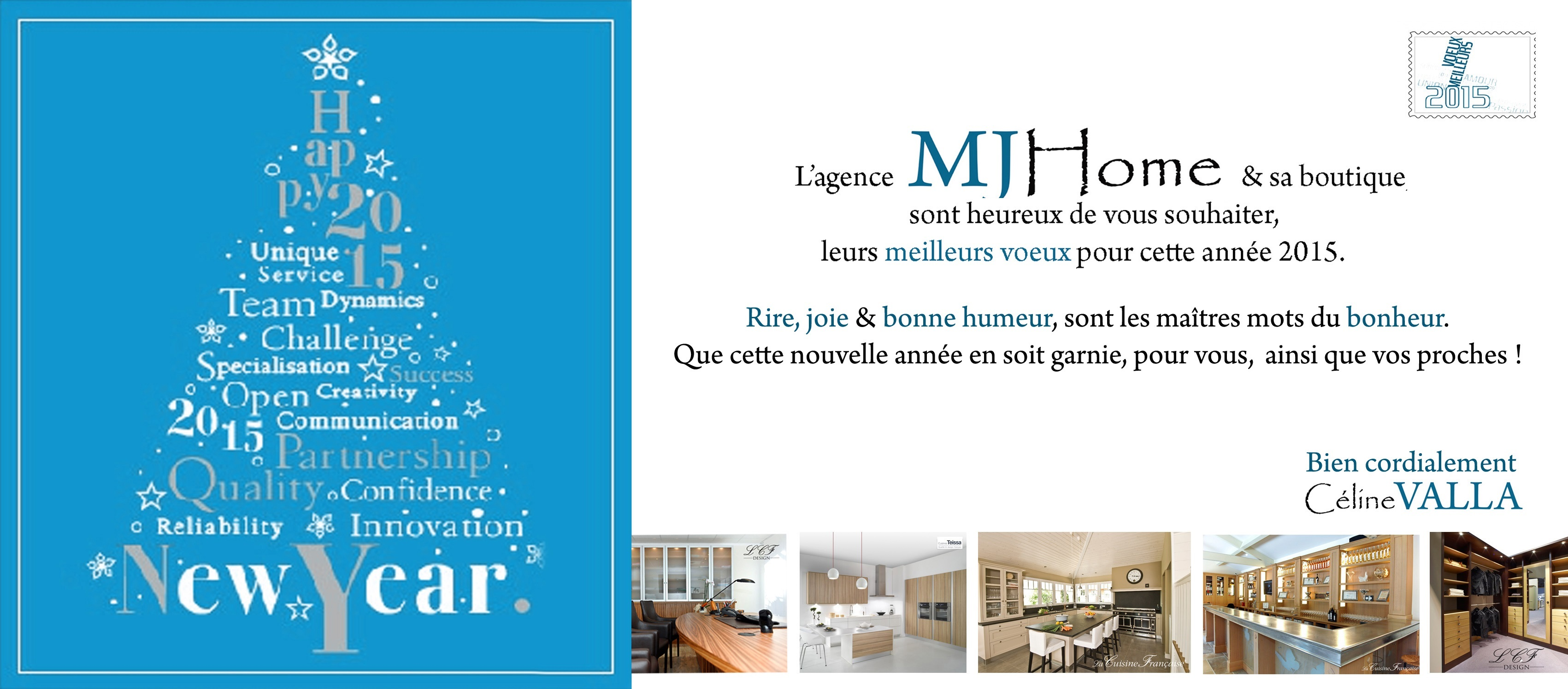 CARTE DE VOEUX MJ HOME 2015