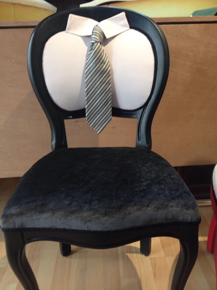 création chaise Monsieur de les Etoffes de Saint Clair