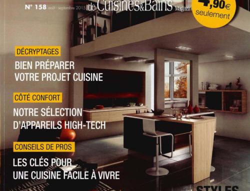 """MJ Home dans le """"Cuisines et Bains"""" de Août à Septembre 2015"""